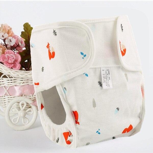 Хлопковые детские подгузники, подгузники, многоразовые стираемые тканевые подгузники, непромокаемые подгузники для новорожденных, трусики для тренировок, подгузники с карманами - Цвет: Fox