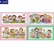 NKF Happy Childhood Counted Cross Stitch Embroidery Sets 11C
