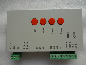 T 1000S LED SD card pixel controller;B type;support TLS3001 IC;DC5 24V input;SPI signal output RGB Controlers Lights & Lighting -