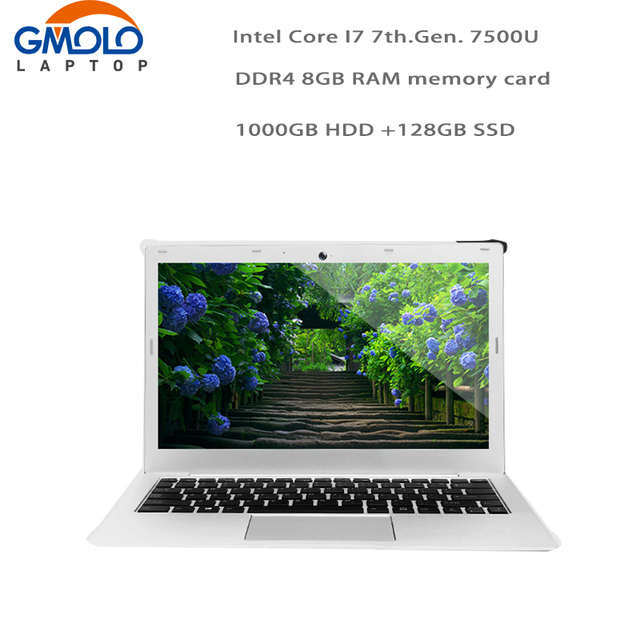 "GMOLO gaming laptop In*tel 7th.Gen. Core I7 CPU 8GB DDR4 RAM 1TB HDD + 128GB SSD 13.3"" 1920*1080 FHD screen Windows 10 ultrabook"