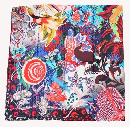Elegant Square 14MM 100 Twill Silk Scarf TWIC 319553 2 colours