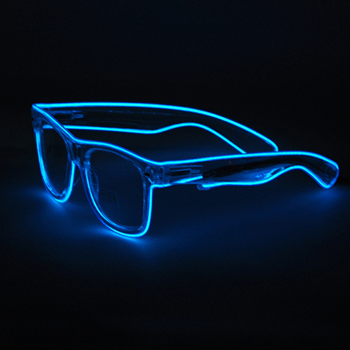 7cef5aa45c Dropwow Light Up Neon EL Wire Rave Glow LED Sunglasses Light ...