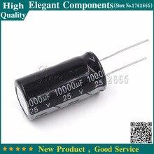 5 шт. 10000 мкФ 25 в 25 в 10000 мкФ Алюминиевый электролитический конденсатор 25 В/10000 мкФ электролитический конденсатор размером 18*35 мм