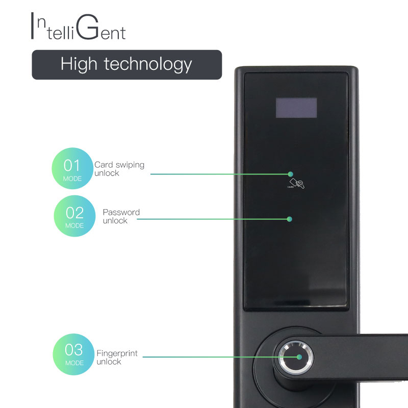 KPIOCCOK Smart Door Lock Fingerprint Lock Assword Access Control Card  Intelligent Door Lock 3D Scanning Wechat Door Lock B-168