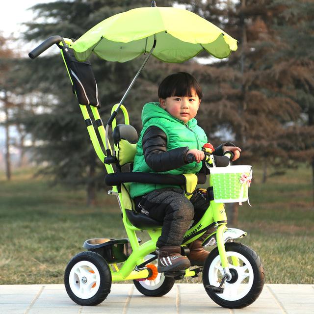 Multi-funcional Moda Impulso Da Mão das Crianças Guarda-chuva de Carro Do Bebê Portátil Carrinho De Bebê 3 Rodas Triciclo Bebê Bicicleta