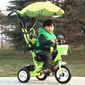 Niños de La Manera de múltiples funciones de Mano Empuje El Triciclo de Coche de Bebé Paraguas Plegable Bebé Cochecito 3 Ruedas de Bicicleta Bebé
