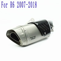 Slip On For Yamaha R6 2007 08 09 10 11 12 13 14 15 16 17 2018 Year For Akrapovic Exhaust Pipe System Muffler Motorcycle Scooter