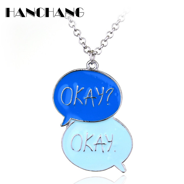 Love Movie Jewelry The Fault In Our Stars OKAY OKAY Pendant Necklace For  Female Men Fashion
