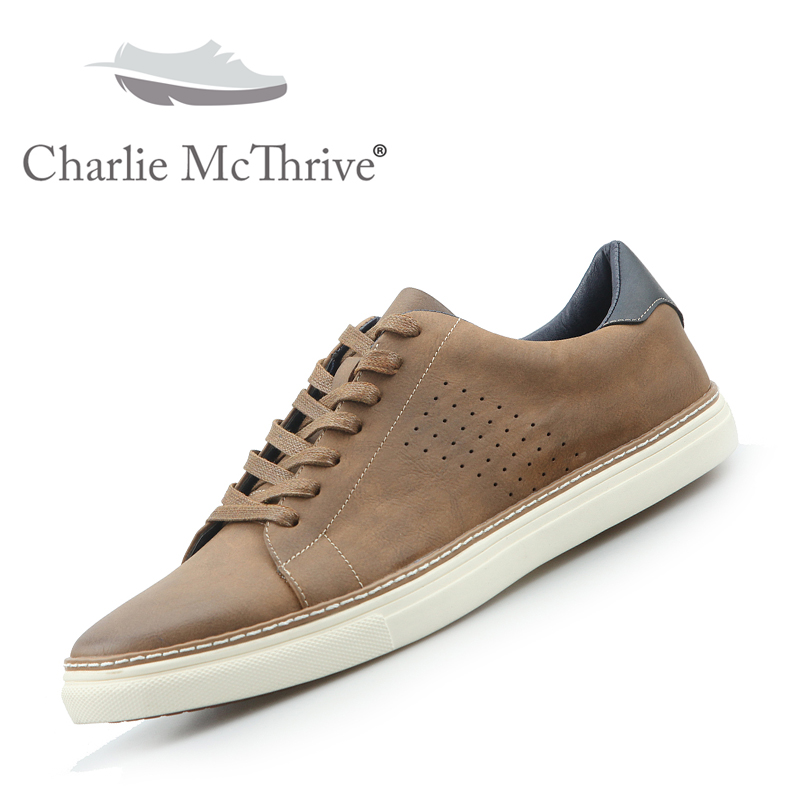 CMT 2019 New men leather casual shoes luxury brand designer lace up brown breathable solid low top sneakers trend shoesCMT 2019 New men leather casual shoes luxury brand designer lace up brown breathable solid low top sneakers trend shoes