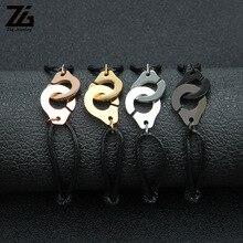 ZG Handcuff Bracelet For Women Men Rope Stainless Steel Lovers