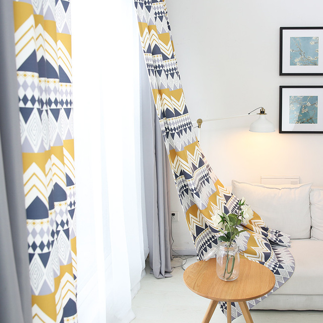 Geometric Patterns Nordic Style Curtains