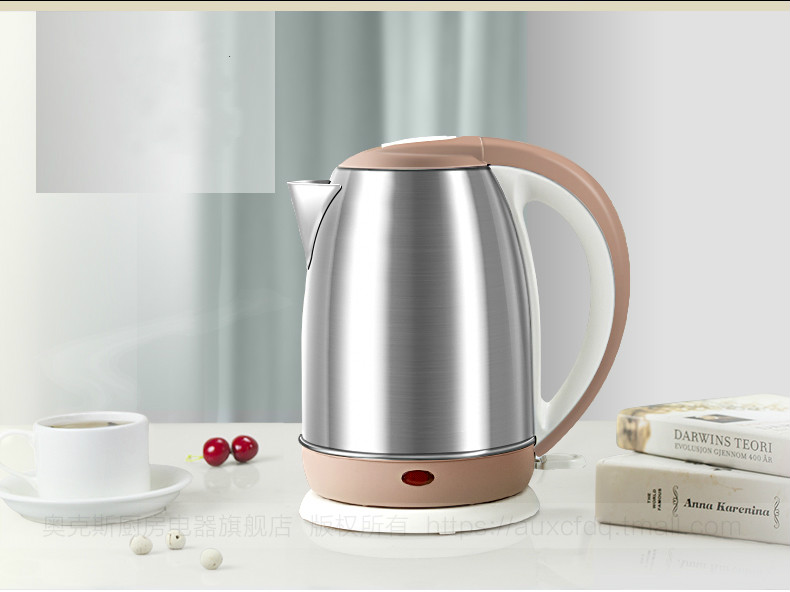 electric kettle 304 stainless steel household boiler heat insulation automatic power Safety Auto-Off Function цены