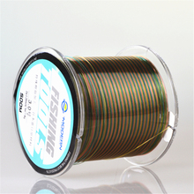 Modern fluorocarbon Colorful fishing line 500 meters wear-resistant nylon line boat sea fishing line