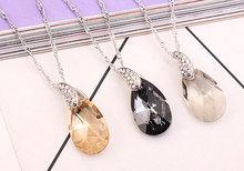 New Design Crystals From Swarovski Necklaces & Pendants Silver Color Chain Necklace Women'S Clothing & Accessories Love Gift