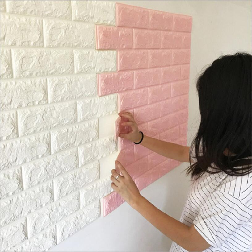 DIY Self Adhesive TV Background Brick Wallpapers 3D Wall  Living Room Mural Bedroom Decorative Stickers On The Wall Paper
