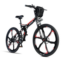 26inch electric bicycle 21 speed mountain bike assisted ebike folding frame li ion battery powerful motor