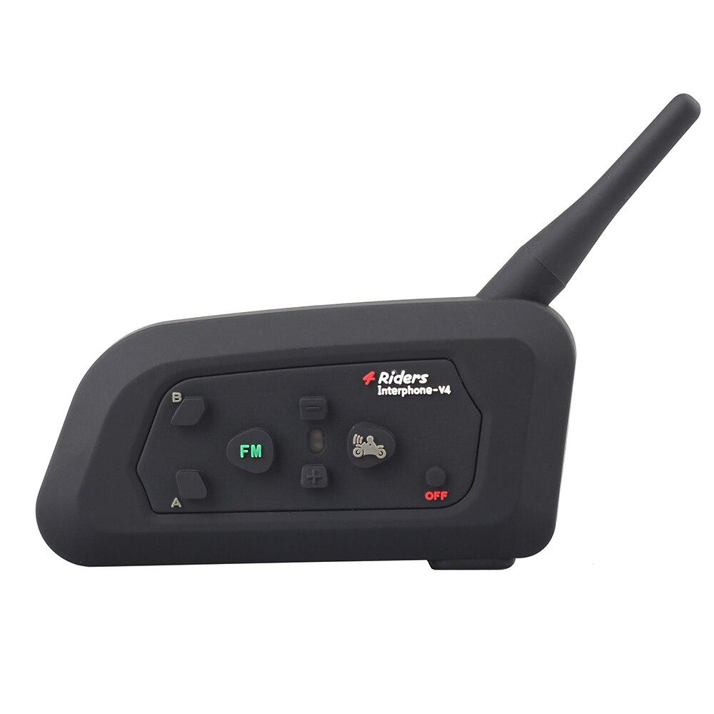 ¡Auricular suave! 1 unids V4 BT Interphone casco de motocicleta - Accesorios y repuestos para motocicletas - foto 2
