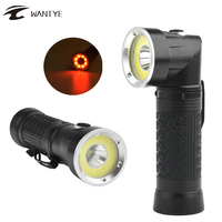 Powerful LED Flashlight 18650 T6 COB 6000LM 90 Degree Fold Multifunction Torch Light For Hunting Camping