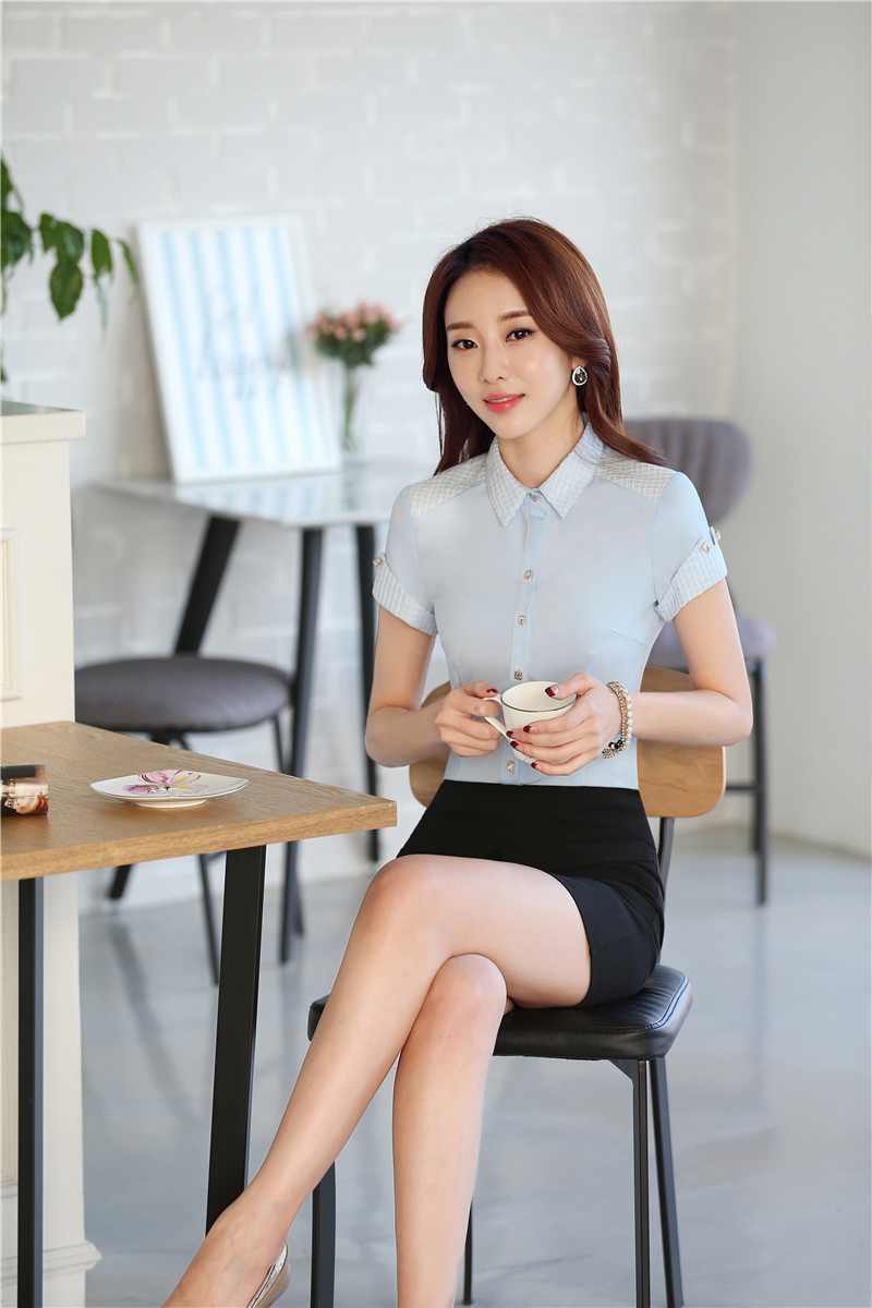 25ab4b911 Uniforme Formal estilos profesional de las mujeres trajes Tops y Falda  Mujer Camisas trajes conjuntos camisas de oficina blusas conjuntos S 3XL en  Trajes de ...