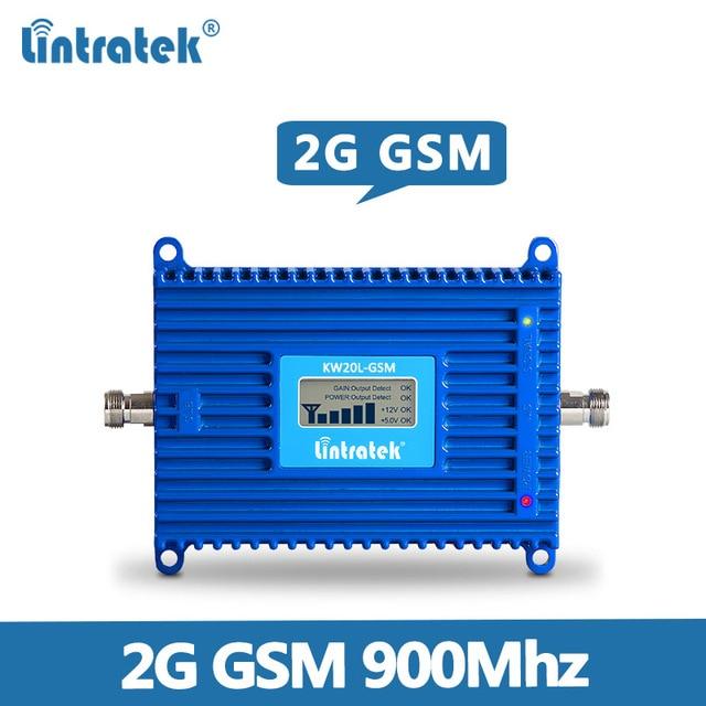 Lintratek AGC GSM مكرر 900 ميجا هرتز 70dB 20dBm 2 جرام الهاتف المحمول مكبر صوت أحادي 900 ميجا هرتز جهاز تقوية الإشارة GSM مكرر KW20L GSM