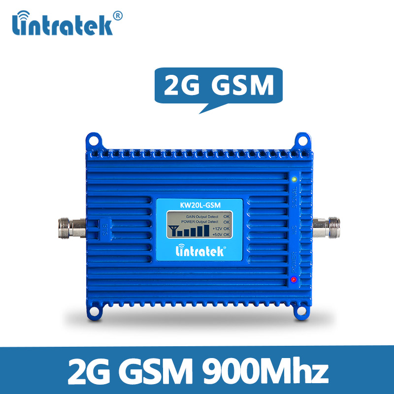 gsm repeater 900mhz repetidor de sinal celular Gain 70dB 2g mobile signal amplifier 900MHZ GSM signal booster with display @7.8