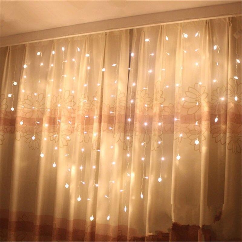 Ürək formalı LED nağıl simli icicle pərdə Light 2M * 1.5M - Şənlik aksesuarları - Fotoqrafiya 4
