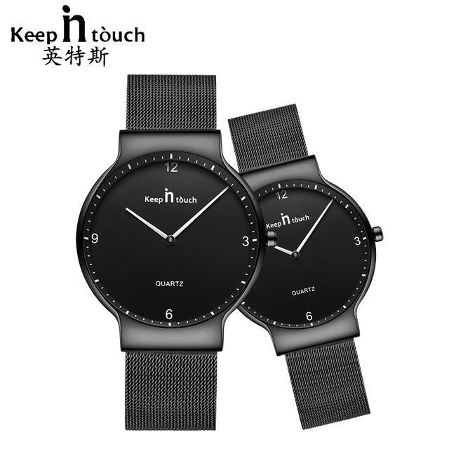 KEEP IN TOUCH Womens Men Watches for Couples Simple Luxury Quartz Ladies Waterpo