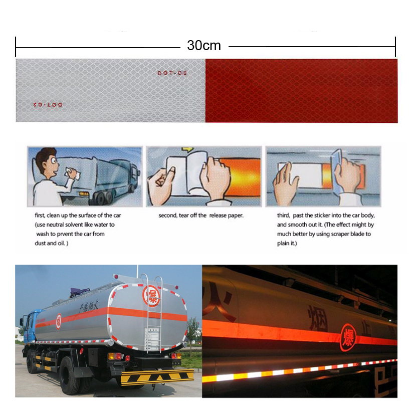 5cmX1m Reflective Conspicuity Diamond Grade Tape, Automotive, Motorcycle, Trailer Tractor Truck Reflectors