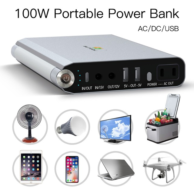 Rechargeable Battery 12V Output DC 220V / 110V AC power bank