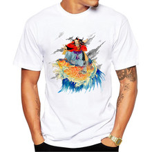 2017 Funny Legendary surfer Printed T-Shirt For Men summer Boy Novelty Men's T shirt Tops Fashion Tees Tops Homme