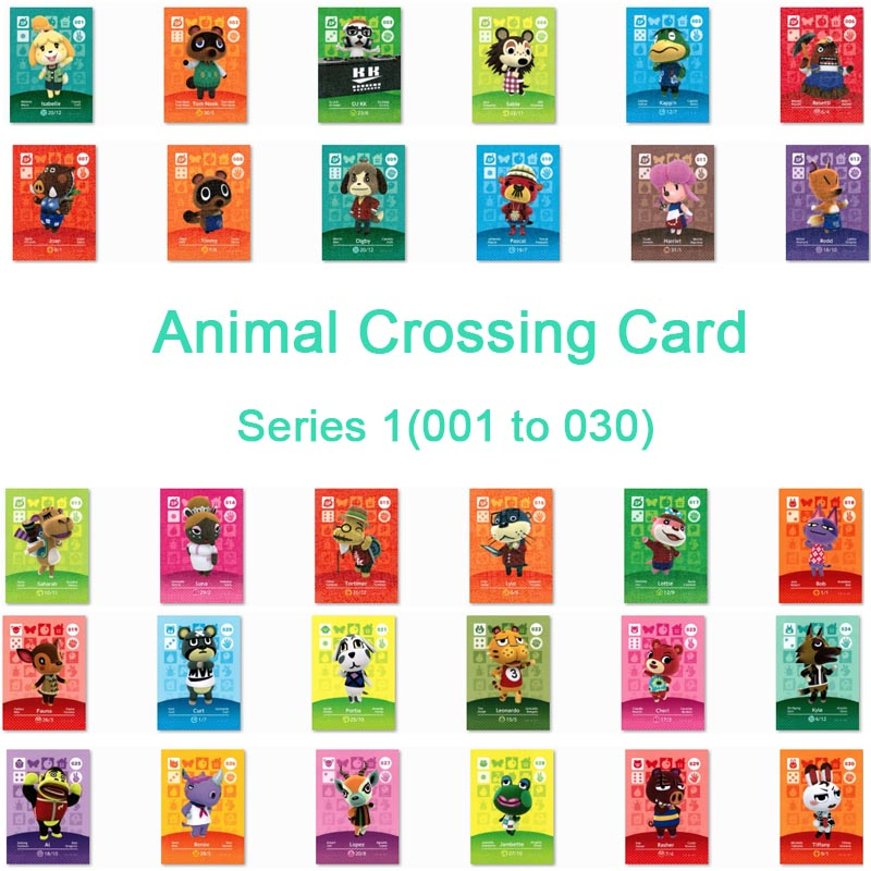 <font><b>Animal</b></font> <font><b>Crossing</b></font> <font><b>Card</b></font> <font><b>Amiibo</b></font> <font><b>Card</b></font> Work for NS Games Series 1 (001 to 030) image