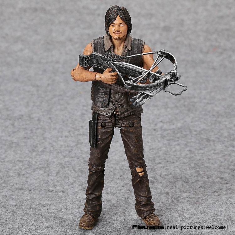 AMC TV Serisi Walking Dead daryl Dixon Ile Silah PVC Action Figure Koleksiyon Model Oyuncak MVFG350