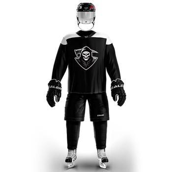 COLDOUTDOOR piracki strój do hokeja na lodzie akceptuje nazwa własna i numer czarny tanie i dobre opinie Koszulki Hokej na lodzie Poliester Pełna JERSEY Oddychające Szybkie suche V-neck Pasuje większy niż zwykle proszę sprawdzić ten sklep jest dobór informacji