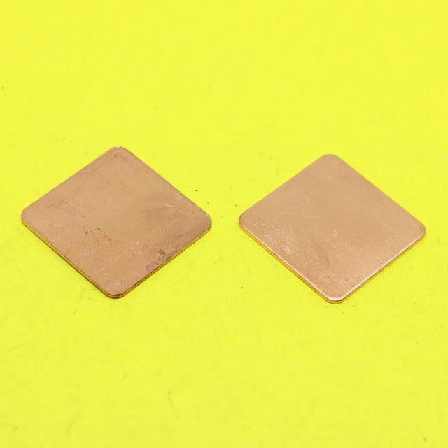 cltgxdd TL-104   20x20x0.8mm DIY Copper Heatsink thermal Pad for Laptop GPU CPU VGA Chip RAM Copper sheet