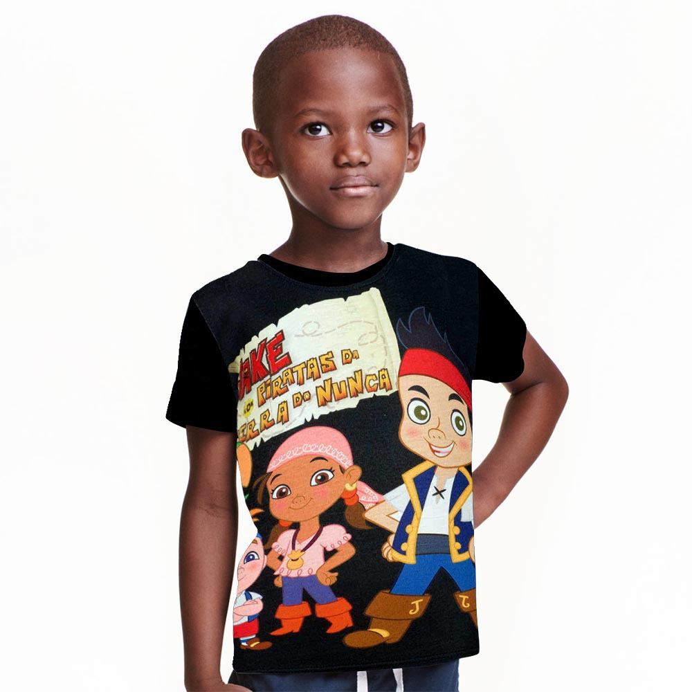 Boys T shirt Clothes Kids Baby Jake And The Neverland Pirates Clothing children Clothes short Sleeve T Shirt For Boys Tshirt