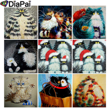 DIAPAI Diamond Painting 5D DIY Full Square/Round Drill Cartoon cat landscape 3D Embroidery Cross Stitch Decor Gift