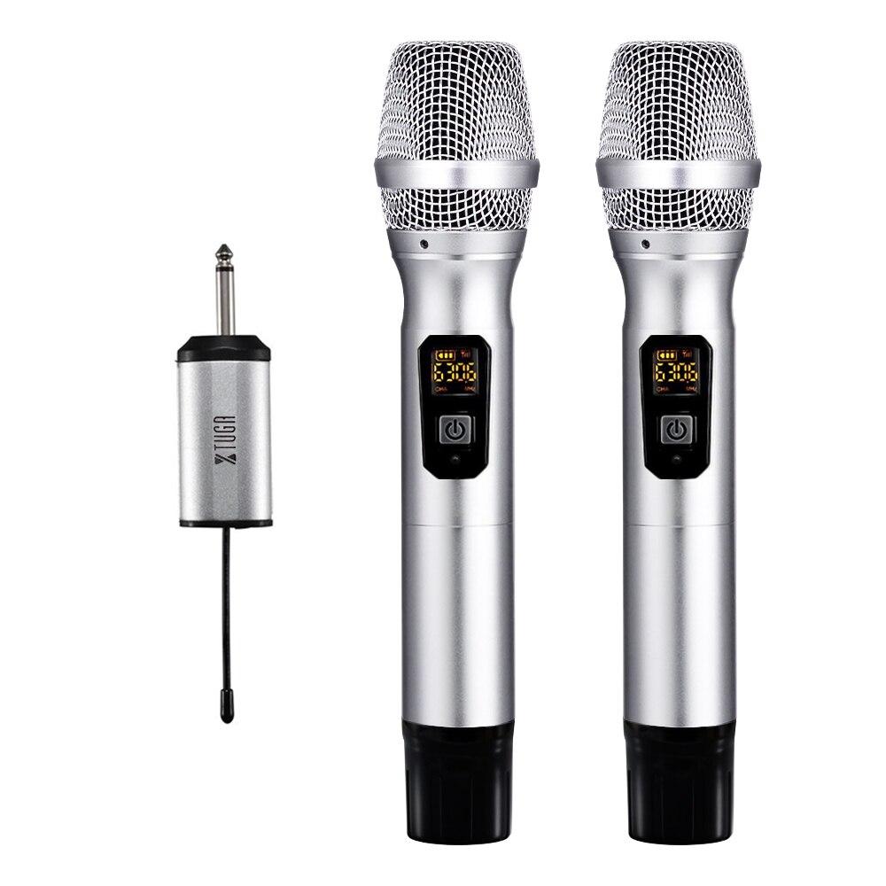 """XTUGA 25 Canali UHF Microfono Senza Fili Doppio Microfono con Mini Potabile Ricevitore 1/4 """"Uscita-in Microfoni da Elettronica di consumo su AliExpress - 11.11_Doppio 11Giorno dei single 1"""