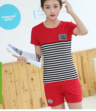 Shorts and short-sleeved summer new large size women's T-shirt suits  suits casual fashion