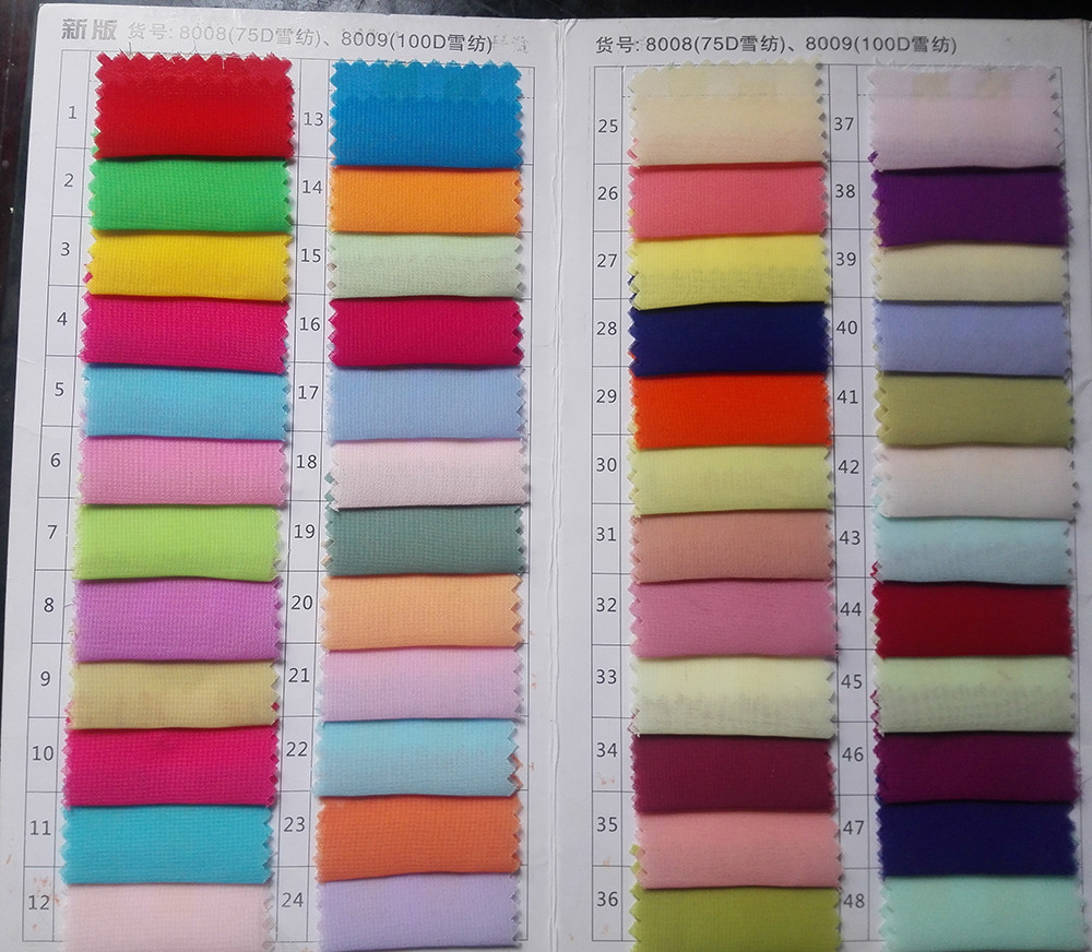 100D chiffon color 1