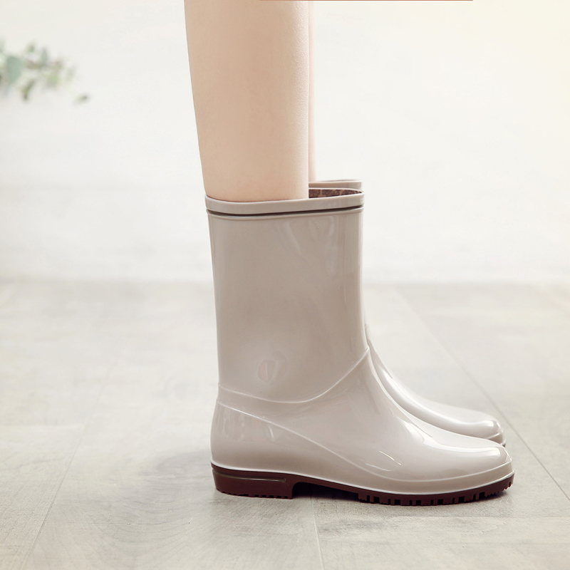 BootsSommerschuheWasser rutschfestReisgrauSchwarzGrauLila Fashion RegenstiefelTube Kristall QshdCtxr