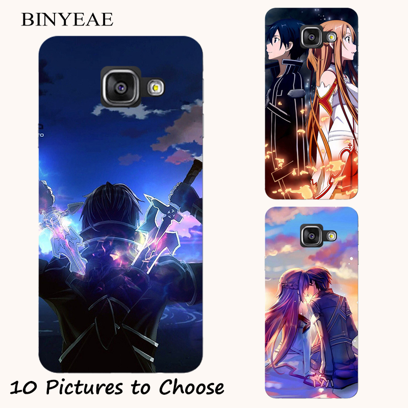 Sword Art Online Anime Manga Silicone Painting Case For Samsung Galaxy J1 J2 J3 J5 J7 A3 A5 A7 A8 2016 2017 Phone Printed Cover