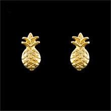 GORGEOUS TALE Gold Cute Pineapple Stud Earrings Silver Earring Fashion Jewelry 2017 Brinco Earrings Boucle d'Oreille Femme