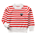 QUIKGROW 3~4 Years Superior Children Sweaters Kids Girls Boys Long Sleeve Stripes Knitting Tops Red & Black Jumpers MA11MY