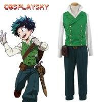 2016 Hot My Anime Hero Academia Cosplay Costumes Izuku Midoriya Deku Cosplay For Adults Halloween Costume
