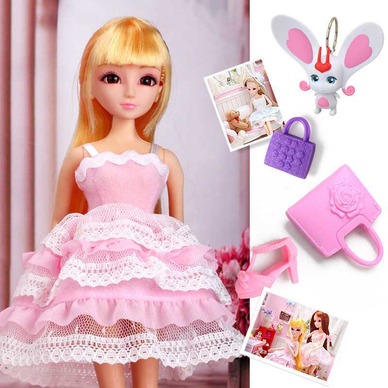 Lelia doll kawaii Dress up fashion Dolls girls toy Set cute Joints can be bent Gift Box Toys for Children girls Birthday Gifts