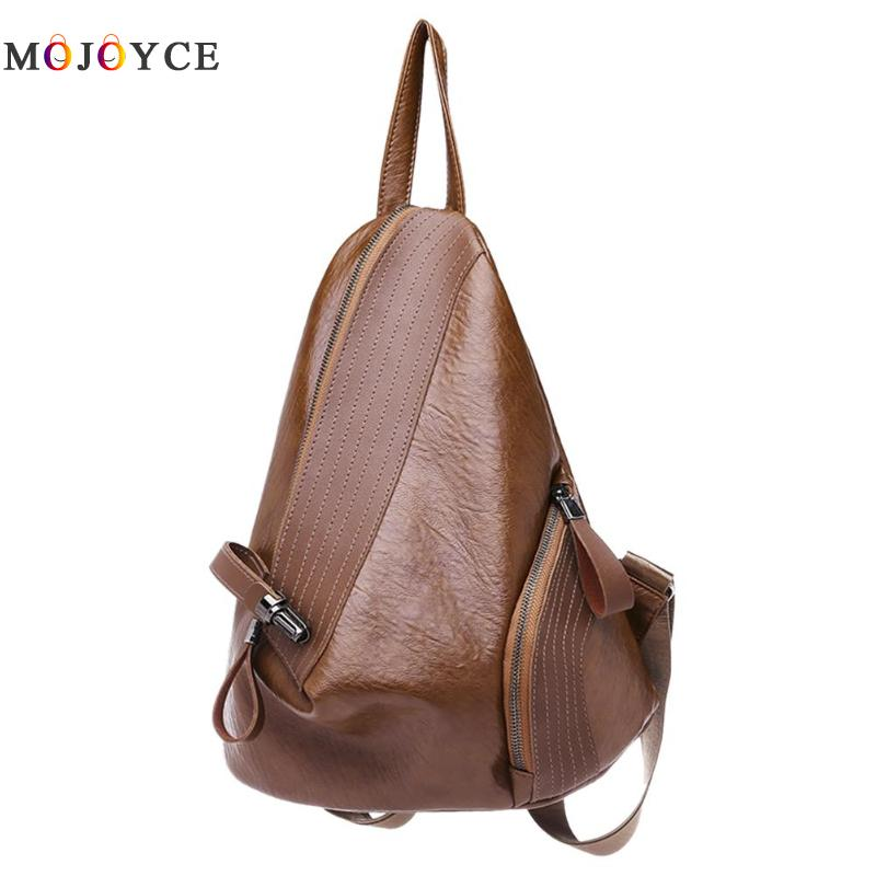 Chic Creative Zipper Open Design Women Backpack Girls Small Size Casual Soft Pu Leather Backpack Female Mochila Feminina #1