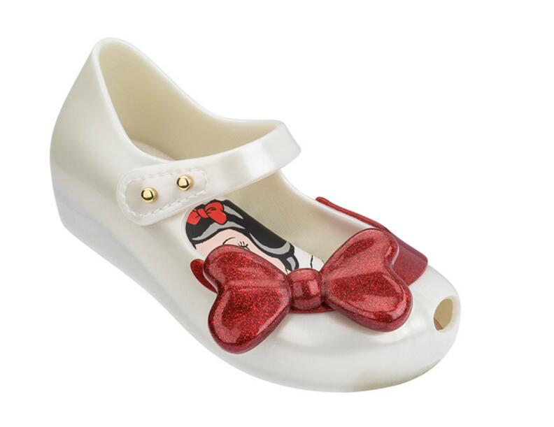 Melissa Mini Shoes Summer Snow Princess Jelly Shoe Girl Non-slip Kids Toddler Beach Sandals Cute Buckle Girl Shoes Size 6-11