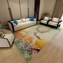 Nordic Style Striped Large Size Carpet Bedroom Rug Non-slip Carpets For Living Room Super Soft Door Mat