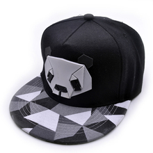 2016fashion spring and summer lovers baseball cap hip-hop hat male Ms. cute panda zebra rubber hatsnapback