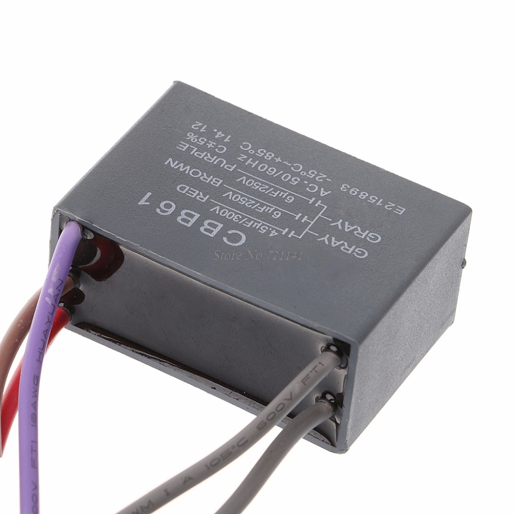 Ceiling Fan CBB61 Capacitor 4.5uf+6uf+6uf 5 Wire 250V 5 Capacitor Speed Starting